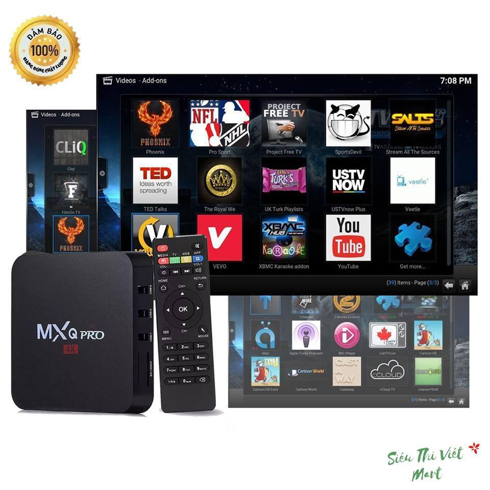 Android Box TV MXQ pro 4K - Chính Hãng, Giá Tốt, Cấu Hình Cao