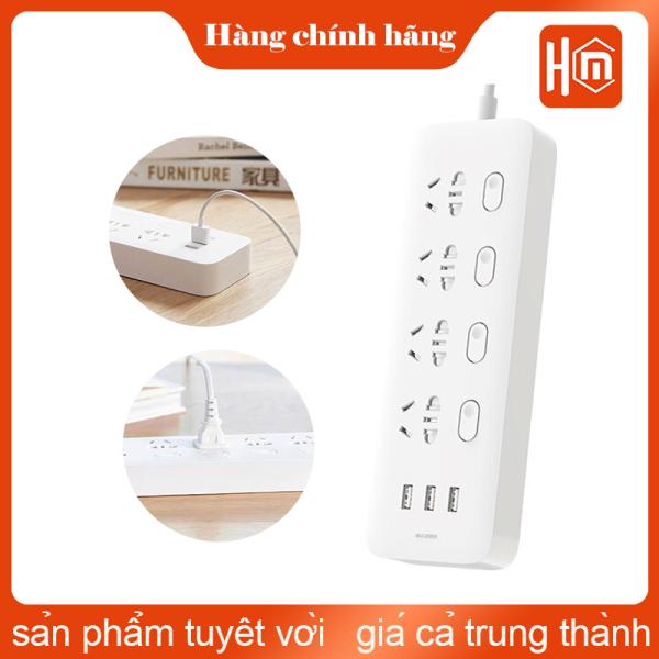 Ổ Cắm Điện Xiaomi Mijia 6 Cổng Sạc Nhanh Với 3 Cổng Usb CXB6 - 1QM /Ổ Cắm Điện 4 Ổ Cắm Và 3 Cổng Usb MJSWSKCXB - 01QM