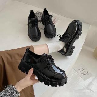 giày bốt nữ cổ thấp da ( bóng,mờ) đế độn tôn dáng hót thumbnail