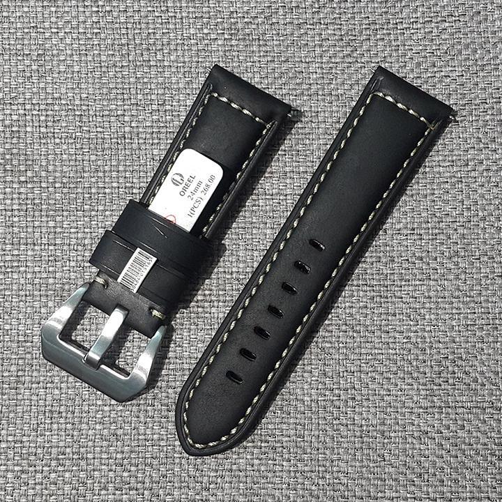 Nơi bán Dây đồng hồ da bò (size 20mm - 22mm -24mm - 26mm), dây đồng hồ nam khóa kim - D1805