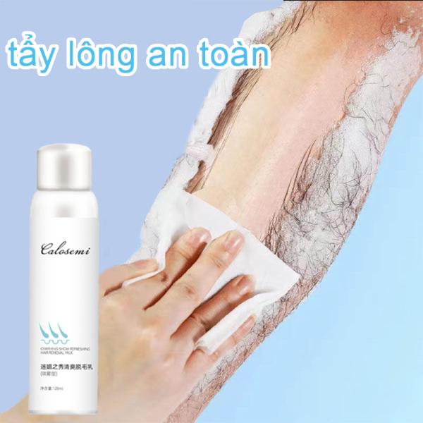Xịt tẩy lông 【120ML】Triệt lông vĩnh viễn Kìm hãm sự phát triển của lông Dụng cho các nơi của coe thể (vùng kín chân tay nách bụng ngực lưng...)
