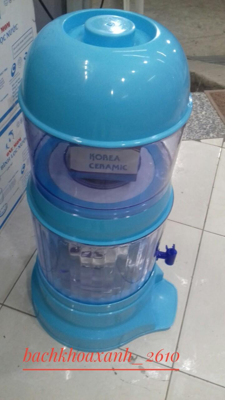 Bình lọc nước nhiều màu uống trực tiếp Hưng Long One Mom 15L, chuẩn, có linh kiện thay thế