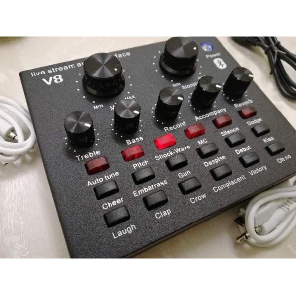 Bảng giá Sound card V8 có Auto Tone dành cho micro thu âm Phong Vũ