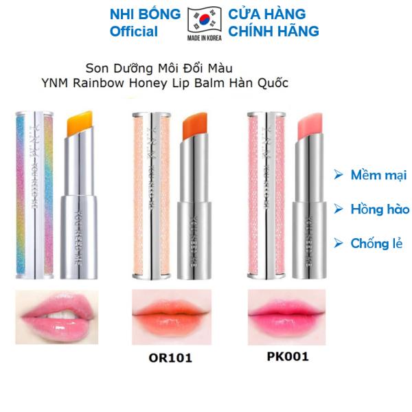 Son dưỡng đổi màu YNM Rainbow Honey Lip Balm Hàn Quốc 3.5g