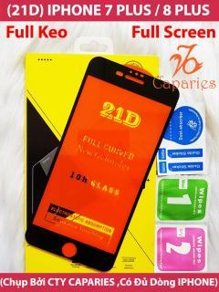 [HCM](Màu Đen) Kính Cường Lực 21D IPHONE 7 PLUS 8 PLUS Full Keo Màn Hình 21D CAPARIES SIÊU BỀN SIÊU CỨNG ÔM SÁT MÁY thumbnail