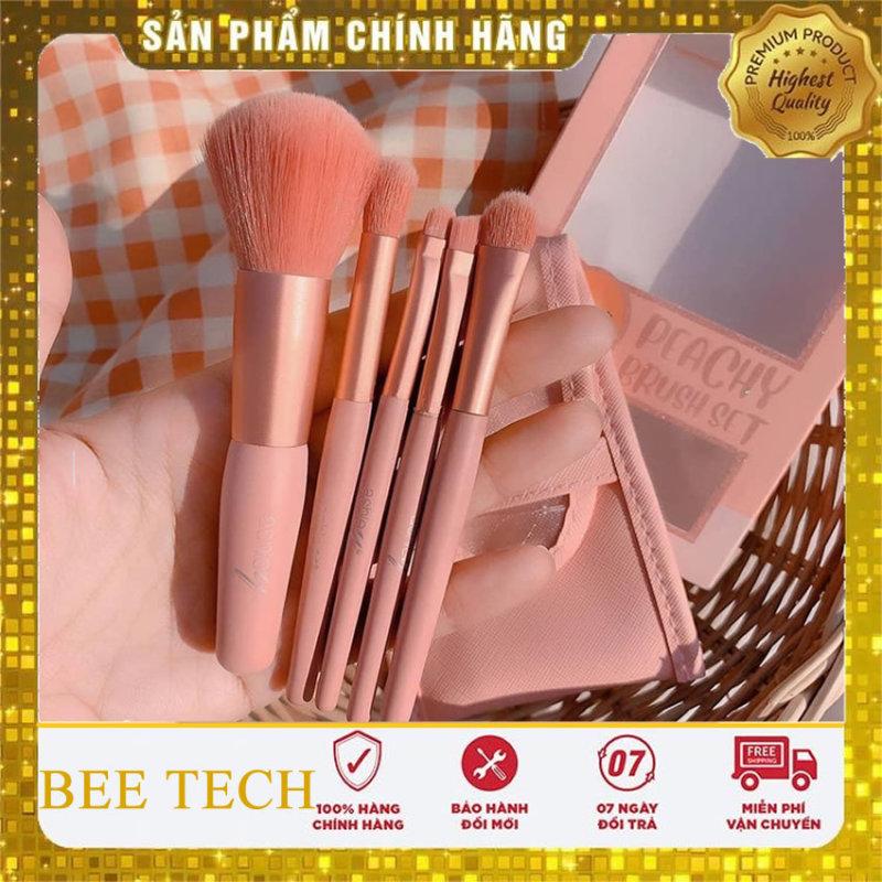 Bộ cọ trang điểm Thái Lan Ashley Peachy Brush Set 5 cây tone Cam đào-Beetech nhập khẩu