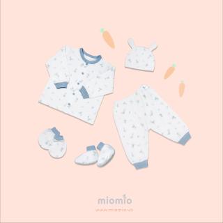 Set dài 5 món thỏ xanh - Miomio - dành cho bé từ 0-24 tháng, chất lượng đảm bảo an toàn đến sức khỏe người sử dụng, cam kết hàng đúng mô tả