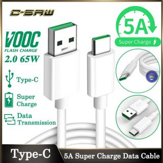 Cáp Sạc USB Type C Siêu Nhanh C-SAW 65W 5A Dây Cáp Truyền Dữ Liệu VOOC OPPO Dùng Cho Samsung Huawei OPPO VIVO Xiaomi - INTL thumbnail