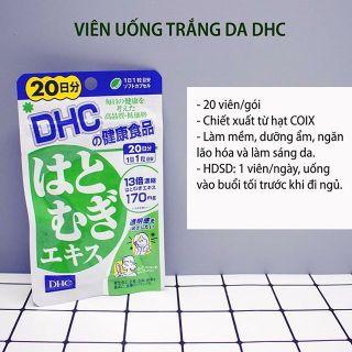 Viên uống trắng da DHC Coix 20 ngày Nhật Bản, chưa vitamin E làm đẹp da, sáng da, da mịn màng thumbnail