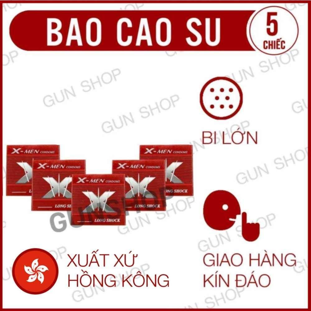 Bộ 5 (5 chiếc) Bao cao su Hồng Kong X Bi Lớn (Hồng Kong) - Lovekiss nhập khẩu