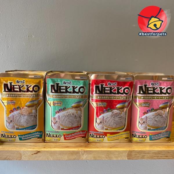 Pate Nekko cá ngừ thật cho mèo - Gravy có sốt - Túi 70g