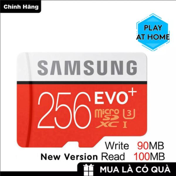 Thẻ nhớ MicroSDXC Samsung Plus 256GB U3 4K - Box Hoa New 2020 (Đỏ) - Tốc độ đọc 100Mb/s - Tốc độ ghi 90Mb/s