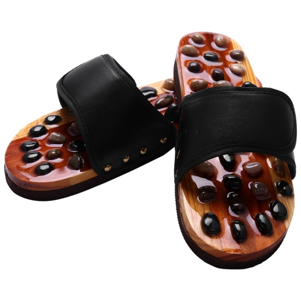 Pebble Stone Foot Massage Slippers Reflexology Feet Elderly Acupuncture Health Shoes Sandals Slippers Healthy Massager giá rẻ