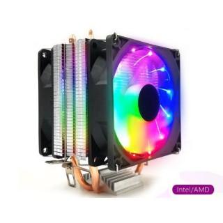 QUẠT TẢN NHIỆT CPU SNOWMAN LED RGB 2 QUẠT thumbnail