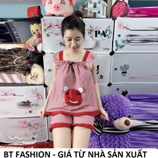 Đồ Bộ Mặc Nhà Vải Katê Lụa Mền Mại, Mát, Thời Trang - BT Fashion (Kate Đùi- Túi Caro 06) thumbnail
