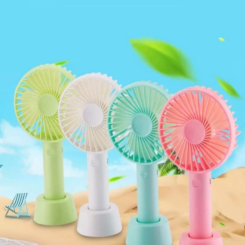 [Giá Sỉ] Quạt Mini cầm Tay Tích Điện 3 Chế Độ Gió Có Chân Đế Quạt Sạc Tích Điện USB mini Fan - Kèm Pin Cáp sạc và Chân đế