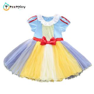 Tootplay Váy Công Chúa Cho Bé Gái Đầm Công Chúa Cổ Điển Ngắn Tay Pha Cotton Thời Trang Quần Áo, Cho 1-5 Y