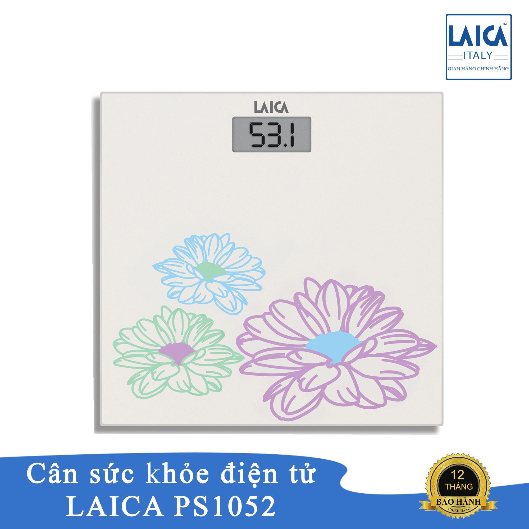 Cân sức khỏe điện tử Laica PS1052 - cân tối đa 130k bước nhảy 0,1kg nhập khẩu