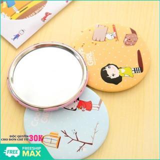 Gương cầm tay mini phong cách Hàn Quốc (Hình ngẫu nhiên) thumbnail