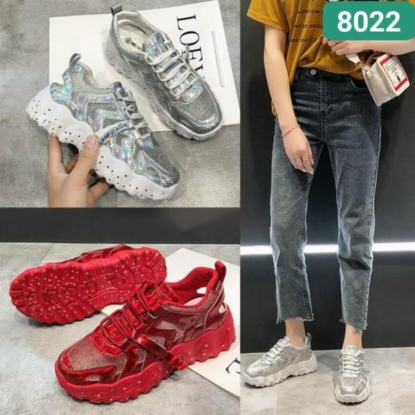 Giày thể thao nữ 3 màu (kiểu 1) 2 sọc  , 2025 và 603, đế độn 626