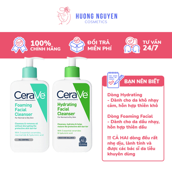 Sữa Rửa Mặt Cerave Cleanser Nhẹ Dịu & Lành Tính