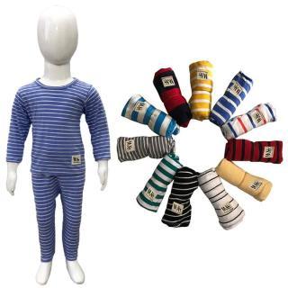 (Ảnh thật shop chụp) bộ tay dài sọc kẻ bé trai bé gái chất liêu 100% cotton 2 chiều vải mịn mát (Màu Ngẫu Nhiên) thumbnail