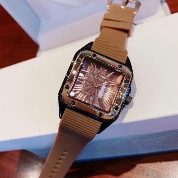 HÀNG MỚI VỀ -Cực Phẩm Phái Nữ Đồng hồ Nữ GUOU Dây Silicon Mềm Mại đeo rất êm tay - Kiểu Dáng Apple Watch 35mm - Chống Nước Tốt - Tặng kèm hộp và pin - Sam Shop bán chạy