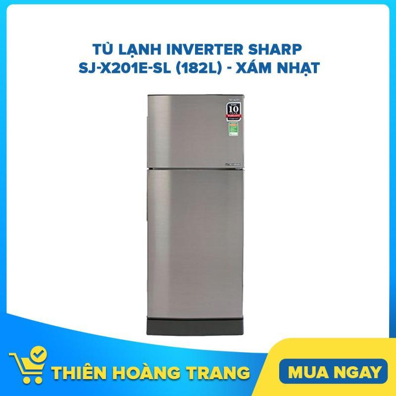 Tủ Lạnh Inverter Sharp SJ-X201E-SL (182L) - Xám Nhạt