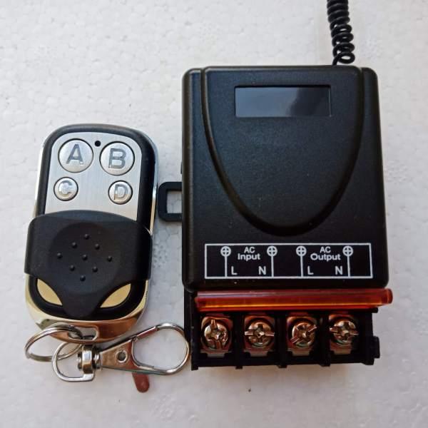 Công tắc ĐEN điều khiển từ xa 30A 220V bật tắt bơm nước - máy rửa xe - bật đèn từ xa giá rẻ