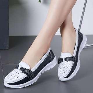 Giày Bệt Nữ Hàng Mới Về 2019 Giày Đế Bệt Ballerina Khoét Lỗ Giày Nữ Thường Ngày Ngoại Cỡ 35-42