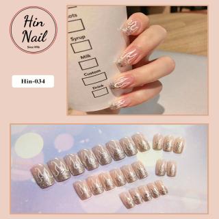 [TẶNG 14 phụ kiện] móng tay giả có keo sẵn dán móng cao cấp chống nước - mong tay giả giá rẻ chất lượng cao thumbnail