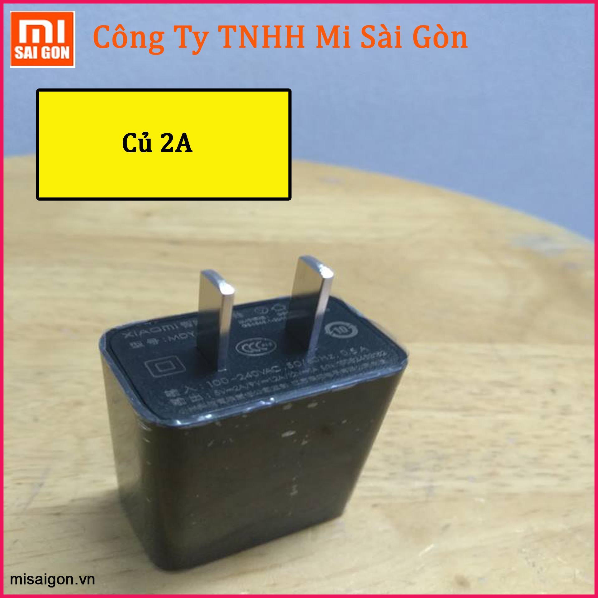 Củ Sạc Xiaomi 5V-2A + Cáp micro usb 1.2 Mét - Hàng Nhập Khẩu