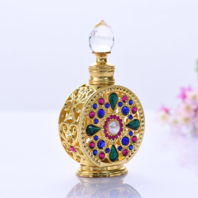 Tinh dầu nước hoa dubai thiết kế chai tròn đa sắc