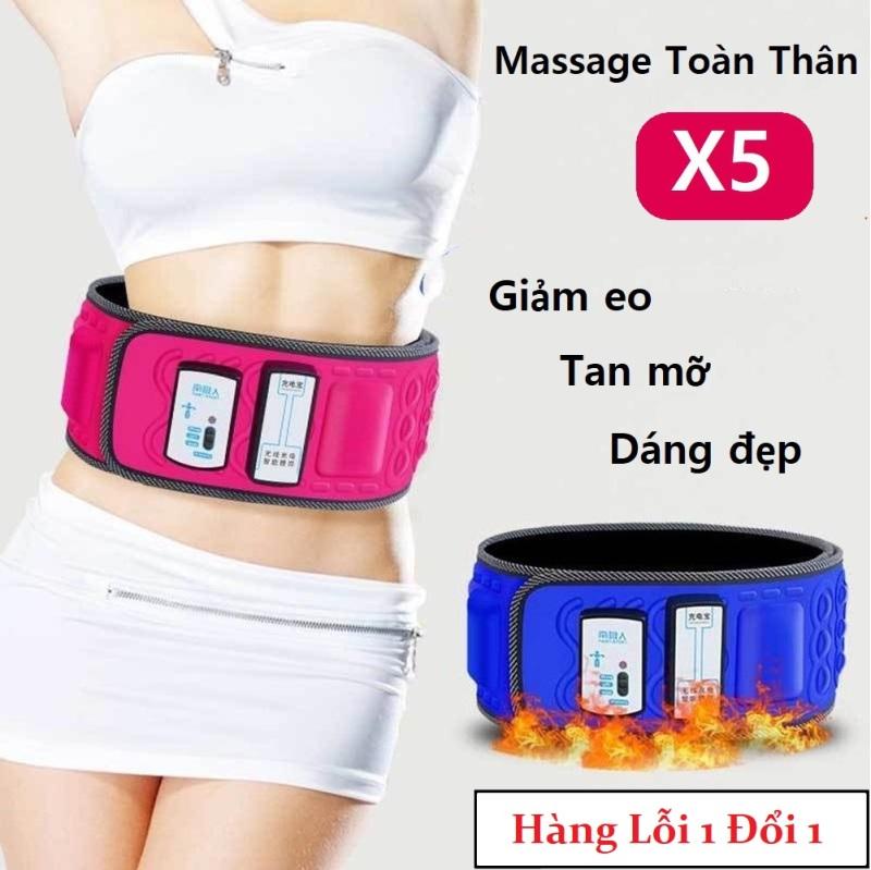 Đai Massage Toàn Thân X5 - Máy Đánh Mỡ Bụng - Máy Tan Mỡ Bụng Thừa, Máy Massage Vòng Bụng, Đai Mát Xa Vòng Eo. Giá Hấp Dẫn(-50%)