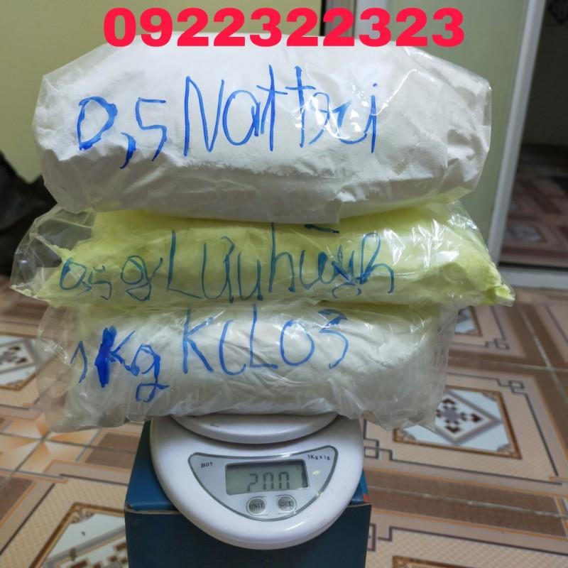 kcl03 1kg + lưu huỳnh 0,5g + nattri 0,5g com bo 3 loại phân tinh khiết hàng chuẩn 100%