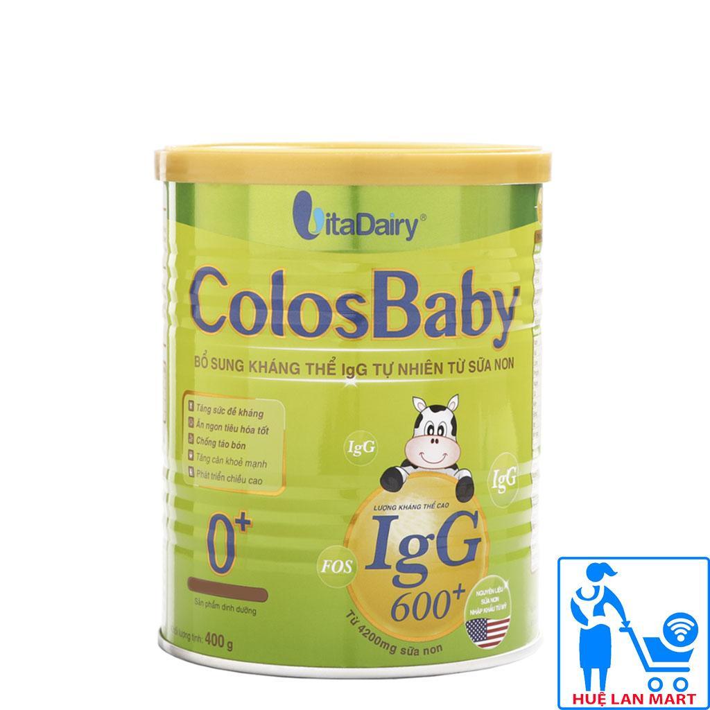 Sữa Bột VitaDairy ColosBaby 0+ Hộp 400g (Bổ sung kháng thể IgG 600+ tự nhiên từ sữa non; Cho trẻ 0~12 tháng tuổi)