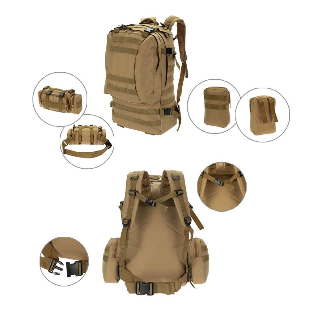 Lixada Outdoor Multifunction Military Tactical Backpack With MOLLE Webbings Rucksack Sports Camping Travel Hiking Bag Với Giá Sốc