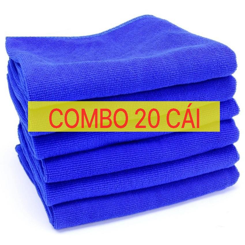 Combo 20 Khăn Lau Microfiber Chuyên Dụng ô Tô, Xe Hơi Cao Cấp, Siêu Sạch Loại Tốt 20B7849 Giá Tốt Không Nên Bỏ Lỡ