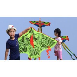 Diều phượng hoàng 5 đuôi 3 đuôi 4 đuôi- diều thả- diều tuổi thơ- diều vải dù tặng kèm 1 cuộn dây trọng lực 20kg thumbnail