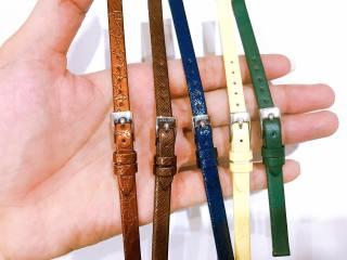 Dây da đồng hồ Julius Hàn Quốc size 08 (5 màu tùy chọn) thumbnail
