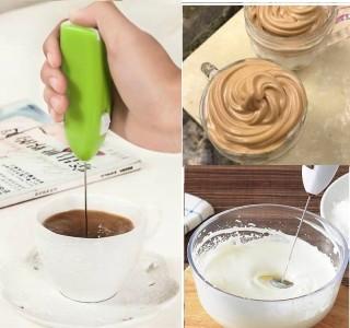 [M] Cây khuấy cà phê kèm đánh trứng đa năng - cây đánh trứng tạo bọt cà phê tự động xài pin - thiết bị xay, trộn, nghiền máy đánh trứng - cây khuấy cafe tạo bọt tự động loại cao cấp (nhiều màu) - thiế thumbnail