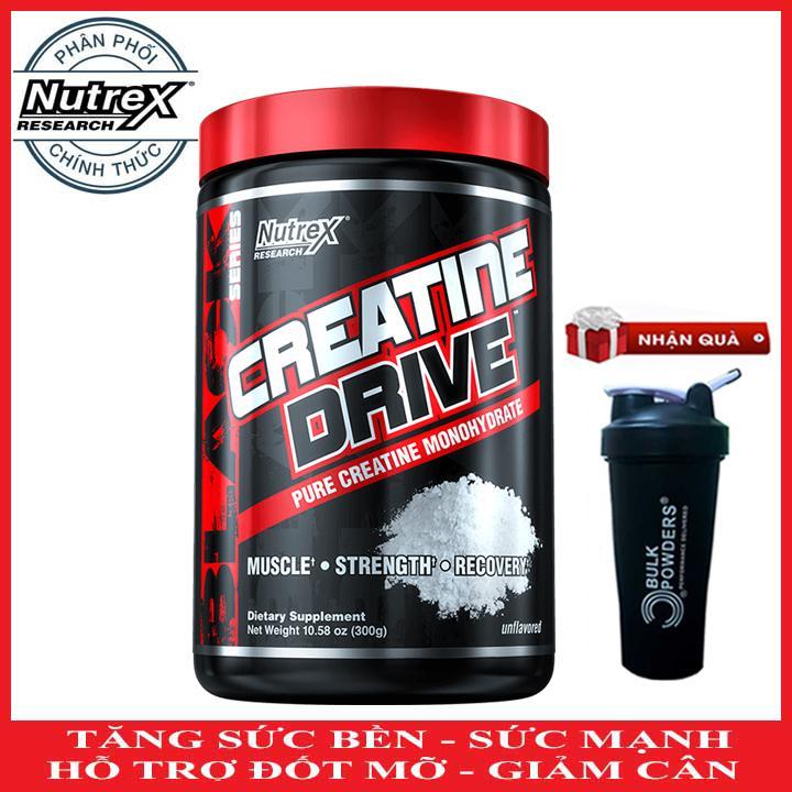 [TẶNG BÌNH LẮC] Creatine Drive của Nutrex hỗ trợ Tăng Sức Bền, Sức Mạnh đốt mỡ giảm cân 60 lần dùng