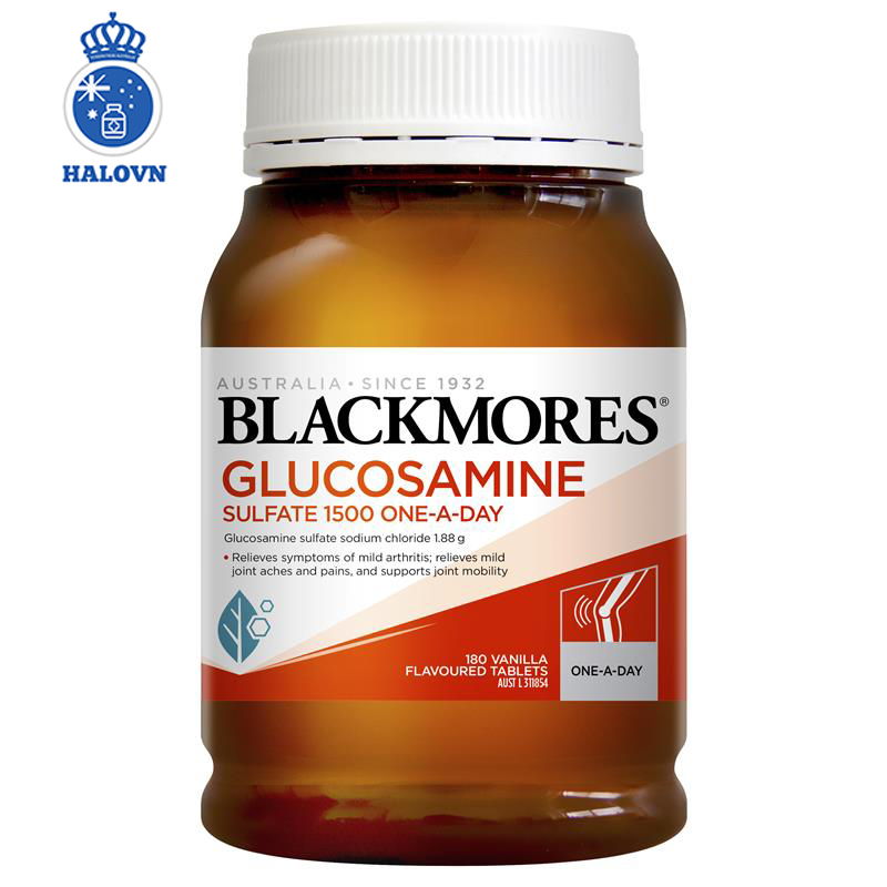 Blackmores Glucosamine Sulfate 1500mg One-A-Day 180 Tablets - Viên uống bổ sung Canxi hỗ trợ xương khớp Blackmore Úc - Haloco VN