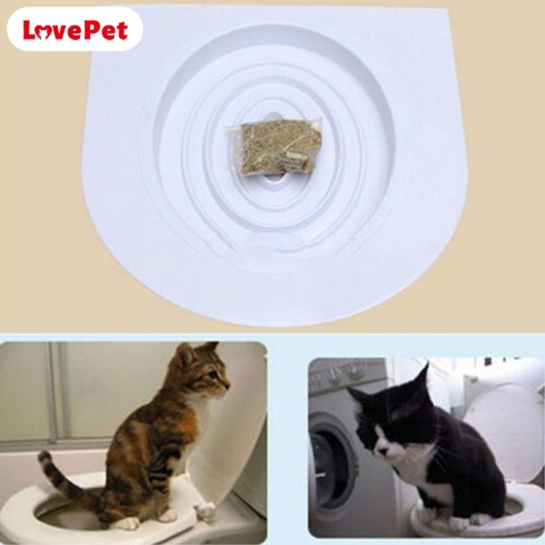 LPH Portable Cat Toilet Seat Training Kit Original Litter Tray with Catnip