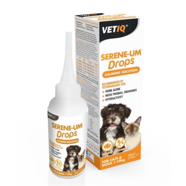 [xuất xứ Mỹ] Nước giảm căng thẳng cho chó / mèo (VETIQ)SERENE UM DROPS CALM SOLUTION100ml(3.5oz)