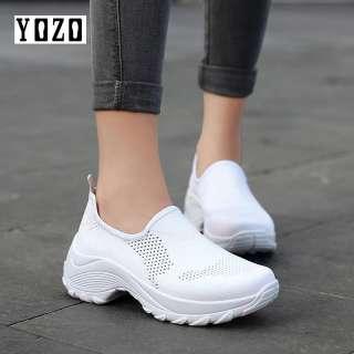 Giày Sneaker Nữ Đế Bằng YOZO Giày Đế Bằng Giày Lười Lưới Thoáng Khí Giày Đế Bằng Đi Bộ Ngoài Trời Thường Ngày Giày Bệt Nữ Giày Lười Thường Ngày Giày Chạy Bộ Nữ