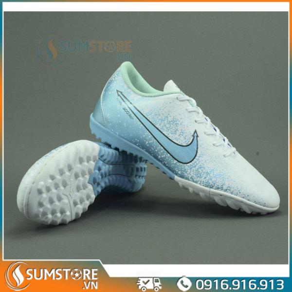 Giày Thể Thao Đá Banh Nam Nữ XFaster Mer CR7 Xanh X20 - Giày Đá Bóng Sân Nhân Tạo Và Futsal (Đã Khâu Mũi & Tặng Kèm Vớ)
