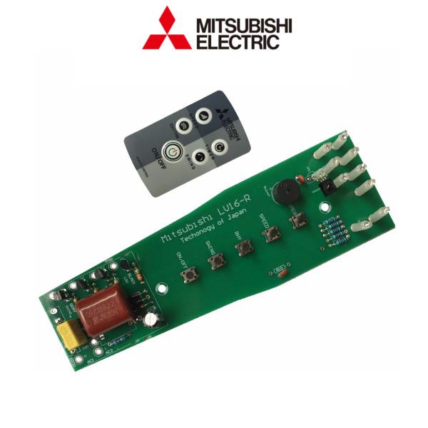 Bộ mạch điều khiển quạt đứng Mitsubishi LV16 RR/RS/RT và điều khiển quạt Mitsubishi