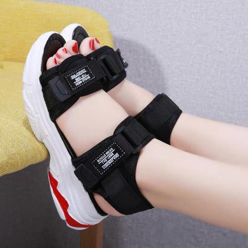 sandal đế cao 2 màu giá rẻ