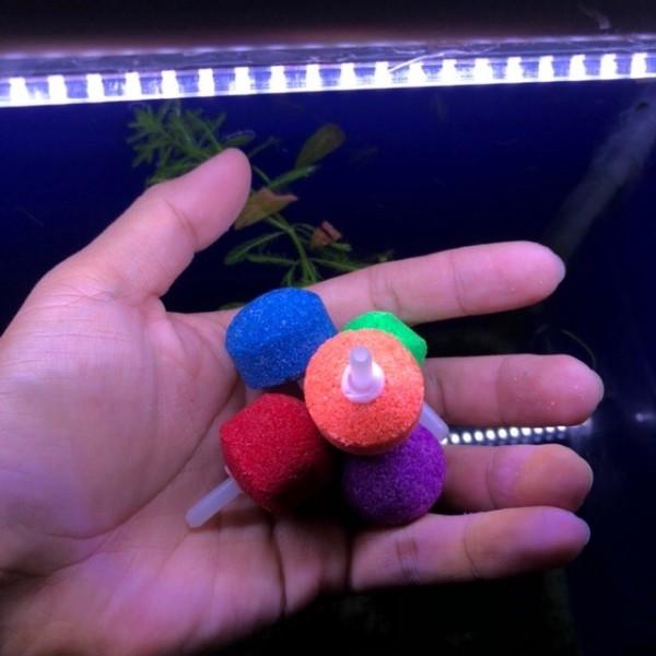 Sủi oxi cho hồ cá , combo 5 cục sủi oxi đủ màu